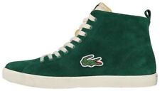LACOSTE MARCEL HI VINTAGE TRAINERS, SHOES, SUEDE LEATHER, GREEN UK 7 to 8.5