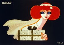 2774.Bally Redhead with Gift POSTER.Fashion and Home Wall art.Red on black Decor
