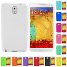 For Samsung Galaxy Note 3 III N9000 Color TPU Transparent Rubber Skin Case Cover