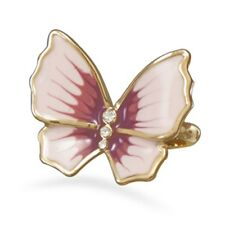 14 Karat Gold Plated Brass Butterfly Ring