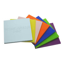GENUINE PERSPEX ACRYLIC PLASTIC RIGID SHEETS 24 DIFFERENT COLOURS A4 3MM THICK