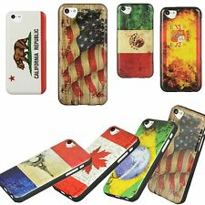 Apple iPhone 5C Lite TPU Soft Gel Skin Case IMD Image Cover Flag Candy Luxmo