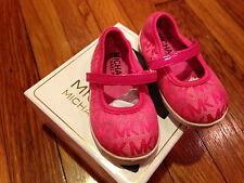 MICHAEL MICHAEL KORS Baby SHOES PINK, 'Baby Monogram' Crib Shoe