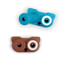 Kikkerland DOG Contact Lens Case ONLY your choice of blue or brown