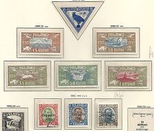Iceland 1930 YV Airmail 3-11  UNG/CANC  VF  HIGH VALUE!