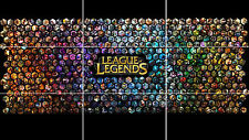 LEAGUE OF LEGENDS GAME HUGE MOSAIC POSTER 35 INCH x 25 INCH