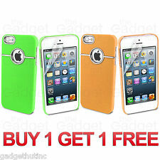 NEW STYLISH CHROME SERIES HARD CASE COVER FITS IPHONE 5/5S/SE FREE SCREEN GUARD