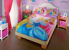 New Girl Princesses Belle Aurora Cinderella Bunk Bed Comforter Bedding Sheet Set