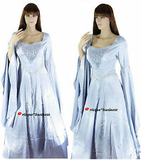 Medieval Silver Arwen Guinevere Princess Fancy Dress Gown Costume 10 12 14 16 18