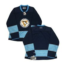 Pittsburgh Penguins Women's Reebok Navy Blue Blank Premier Jersey