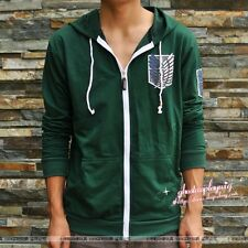 Attack on Titan Hoodies Investigation Corps Jackets Coats Green