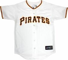 Pittsburgh Pirates YOUTH Home White Replica Majestic Blank Jersey