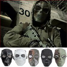 Skull Skeleton Full Face Protect Safety Mask Army Airsoft Paintball BB Gun Game