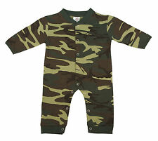 New Rothco 67057 Infant Toddler Woodland Camo One Piece Long Sleeve Bodysuit