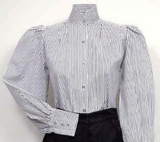 FRONTIER CLASSICS Victorian Black Striped Pioneer Blouse Steampunk Dickens SASS