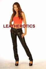Ladies Leather Trouser Skinny slim fit tight jeans pants gift shop presents idea