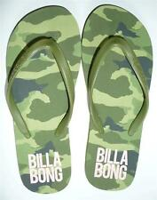 Billabong Camouflage Girls Womens Green Camo Sandals Flip Flops New With Tags