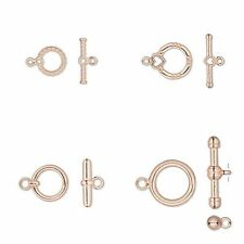 10 Bright Copper Toggle Clasp Sets Bead Jewelry Findings Bar & Ring Connectors