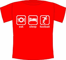 Kids Eat, Sleep, Football - Football Fanatic Graphic Printed T-Shirt