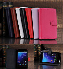 Wallet Card Stand Case Cover For Google LG Nexus 4 Litchi Skin Leather Purse new