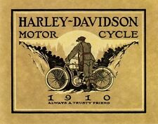 HARLEY DAVIDSON MOTORCYCLE BIKE CYCLE 1910 TRUSTY FRIEND VINTAGE POSTER REPRO