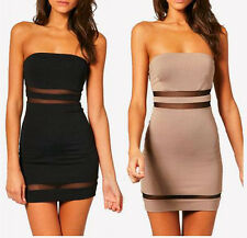 Fashion Sexy Laides Strapless Slim Tube Tunic Bodycon Cocktail Party Club Dress