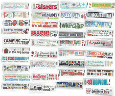 Reminisce RubOns-DOZENS OF THEMES scrapbooking 99 CENTS SALE!!