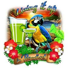 Living It Up in Paradise Parrot  Tshirt    Sizes/Colors