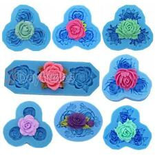 Rose Flower Food Safe Silicone Mold For Cake Decorating Chocolate Polymer Clay