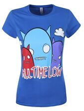 All Time Low Ghost Ladies Blue ATL T-Shirt - NEW & OFFICIAL