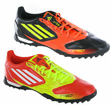 New Mens Adidas F5 TRX TF Black Red Yellow Astro Turf Football Boots Size 6-12UK