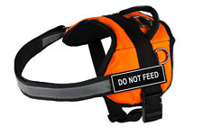 DT Works Orange Working Dog Harness with Velcro Patches DO NOT FEED