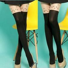 Cute Cat Face Pantyhose Tights Stockings Cosplay Over Knee High Tattoo Patterned