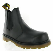Men Dr Martens 2228 Black Leather Steel Toe Cap Safety Dealer Boots Size 6-13