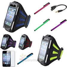 Running Sports Gym Armband Case+Clip Stylus+Clear SP+Splitter For iPod Touch 4