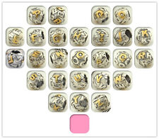 925 Solid Sterling Silver Letter Bead Series III fit European Charm Bracelet
