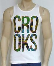 Crooks & Castles Bullets & Chains Fill Mens White Tank Top NWT NEW