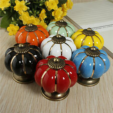 Useful Kitchen Pumpkins Knobs Handles Pull Drawer Ceramic Door Cabinets Cupboard