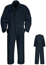 SHORT LENGTH NAVY COVERALLS Hard To Find XS SM MED LG Red Kap mechanic overalls