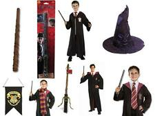 Adult Harry Potter Deluxe Cloak Robe Tie Scarf Wand Hat Fancy Dress Book Week