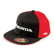 Factory Effex Honda Horizontal Black Red Flex-Fit Hat Cap Adult Licensed CRF CBR