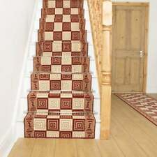 Chequer Red - Stair Carpet Runner For Narrow Staircase Modern Quality Cheap New