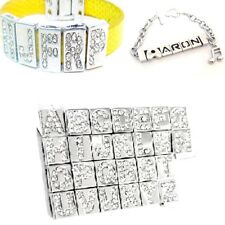 5 pieces Zinc Alloy Side charm Beads for 8mm Cord - Variety of Alphabet Letter