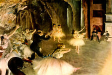 REHEARSAL OF BALLET ON THE STAGE DANCERS DIRECTOR 1879 BY EDGAR DEGAS REPRO