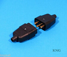 10A Power Connector 3 Pin / 2 Pin Black Cable Jointer Lead Wire Plug & Socket