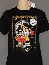 Pittsburgh Steelers Tee Shirt Boys Youth Sizes Black Logo Steely McBeam Mascot