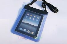 "Blue Waterproof Dry Bag Pouch Case Cover FOR PC Tablet Ebook Reader 8"" 8in"