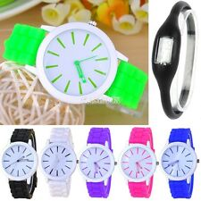 Best Gift Classic Quartz Ladies/Womens/Girls Jelly Silicone Wrist Watch EA