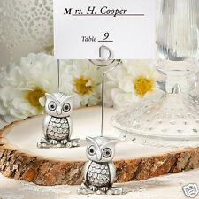 30 70 or 200 Wedding Favors-Little Silver Owl Place Card Holders