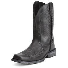 10012841 Ariat Mens Rambler Phoenix Western Cowboy Boot - Black Pepper NEW!